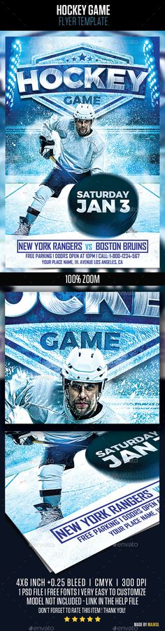 Multipurpose Business Flyer Flyers, Business and Layout - hockey templates free