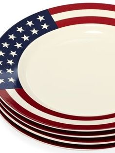 4th of July Decor (I adore these plates)