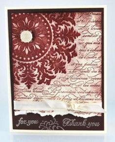 the Medallion and En Francais background stamps