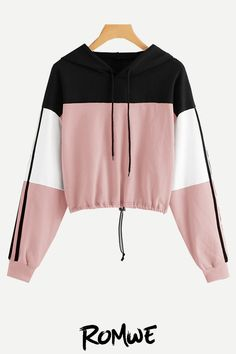 Shop a great selection of SweatyRocks Women's Casual Long Sleeve Colorblock Pullover Sweatshirt Crop Top. Find new offer and Similar products for SweatyRocks Women's Casual Long Sleeve Colorblock Pullover Sweatshirt Crop Top. Outfits Casual, Crop Top Outfits, Teen Fashion Outfits, Mode Outfits, Outfits For Teens, Girl Outfits, Women's Casual, Casual Winter, Fasion