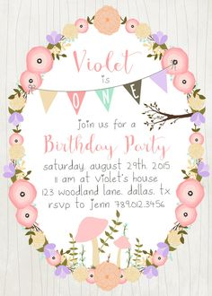 53 Best Ideas For Garden Party Invitations Printable Fairies Garden Party Invitations, Birthday Party Invitations, Tea Party Birthday, Girl Birthday, Fairy Tea Parties, Garden Party Wedding, Glass Garden, Fairies Garden, Printable