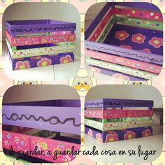 Cajones canastos pintadas a mano, diseños únicos y personalizados by Quiero Algo Bonito!!