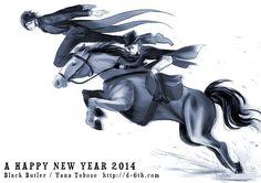 Black Butler ~~ New year 2014 by Yana Toboso