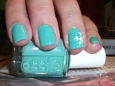 Snowflake Nails.