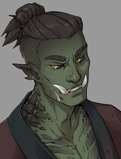 """Meet Raihan, my half-orc/half-dragonborn son. (And yes, he's named after the dragon himbo himself.) thanks so much to for my new son whom i love sm 💚"""" Character Design Animation, Fantasy Character Design, Character Design Inspiration, Character Concept, Character Art, Fantasy Races, High Fantasy, Fantasy Art, Space Fantasy"""