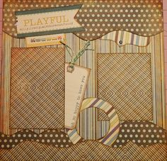 12x12 Scrapbook Layout.