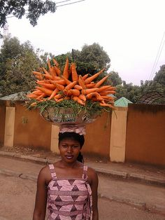 carrot vendor, Ouagadougou, Burkina Faso