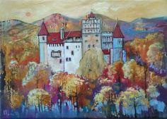 """Brun."" Romania. Oil on canvas. Size 50*70cm."