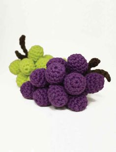 Yarnspirations.com... Crocheted grapes... These are really pretty!... Free pattern!