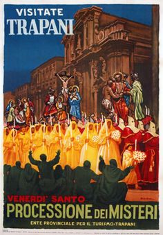 TW10-Vintage-1950-Trapani-Sicily-Italian-Italy-Travel-Poster-Re-Print-A4