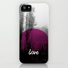 Some fashionable inspiration and new trends for your online birthday or christmas shopping spree. The great love - romantic photography and typography design iPhone & iPod Case by Little Smilemakers Studio - $35.00