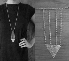 Indian Arrowhead Cage Necklace No 34 by moderntribes on Etsy, $35.00