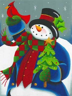 40 Easy Canvas Painting Ideas For Art Lovers Christmas Canvas, Christmas Paintings, Christmas Pictures, Christmas Snowman, Winter Christmas, Christmas Crafts, Christmas Decorations, Christmas Ornaments, Clipart Noel
