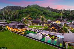 Absolutely stunning: Aaron Paul surprised his wife Lauren Parsekian with a trip to Thailand to celebrate her 30th birthday; they are staying at a $30 million home courtesy of Airbnb