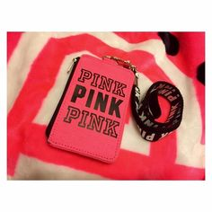 New ; VS PINK ID HOLDER/LANYARD NWOT - has NEVER been used, been sitting since I got it , Color : PINK ❣  ONLY SELLING ON Ⓜ️ERCARI TO ENSURE I GET ALL MY EARNINGS !  These are not old in stores & are a high demand at the moment. Make An Offer, Highest offer will get it !  N O L O W B A L L E R S   Leave your NEGATIVE COMMENTS & OPINIONS ON PRICES elsewhere, thanks  PINK Victoria's Secret Accessories Key & Card Holders