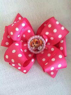Paw Patrol Sky Polkadot Spring Boutique  Hair Bow Adorable Easter Basket Gift