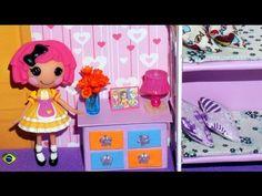 Como fazer cômoda para mini boneca (Polly, Princesas, Lalaloopsy etc) - YouTube