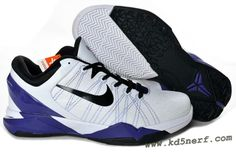 buy popular 8ea5a 5cd1d Nike Zoom Kobe 7 Shoes Concord Black White