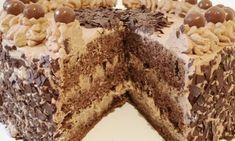 Schokoladen-Sahne-Torte einfach zubereitet