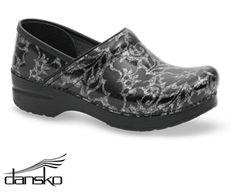 Dansko Professional Silver Floral Patent Leather Clog Style # DANSKSFP  #uniformadvantage #uascrubs #shoes #nursingshoes