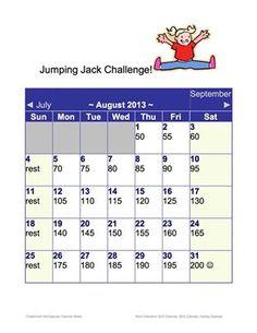 30 day jumping jack challenge by AmySZ www.amyszwerluga.com