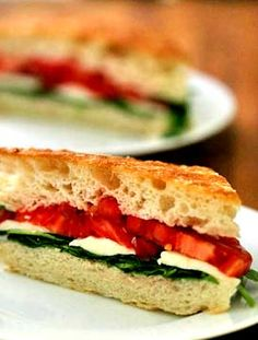 Arugula, Mozzarella, Tomato on Focaccia Recipe on Yummly. @yummly #recipe