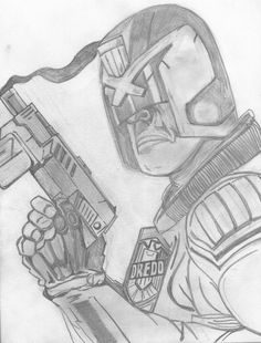 Judge Dredd ~ first pencil drawing in many a year