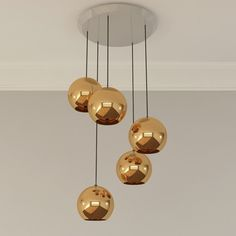 Copper 25 5 Light Multipoint Pendant