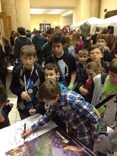 Moravský #Craftcon - podpisová akce na našem stánku #NAFFARIN #minecraft