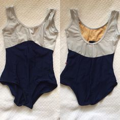 Anna Duo Yumiko Leotard with N-Silver top and trim and N-Dark blue bottom