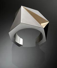 Cuff | Rosalba Balsamo.  Silver, gold
