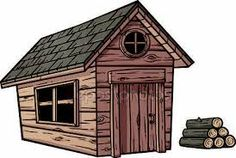 Image result for animated sketches of log cabins