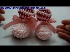▶ Mis Primeros Escarpines en tejido crochet, tutorial paso a paso. - YouTube ✭Teresa Restegui http://www.pinterest.com/teretegui/ ✭