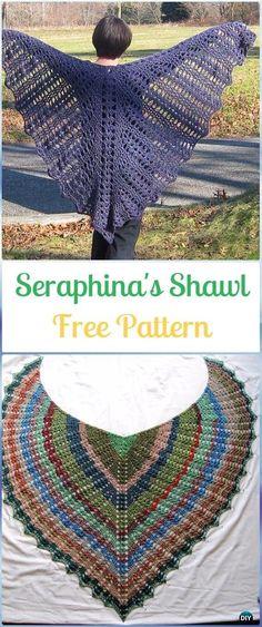Crochet Seraphina's Shawl Free Pattern - Crochet Women Shawl Sweater Outwear Free Patterns