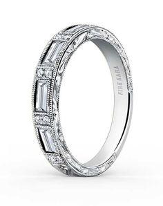 e03172712f2c Kirk Kara Charlotte Collection SS6685D-B Wedding Ring photo Los Anillos De  Boda De Platino