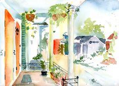New Orleans Porch - Original Painting – Lyla Clayre Studio