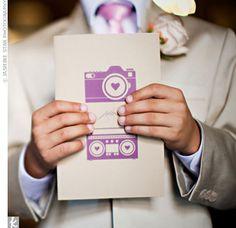 Real Weddings - A Vintage Chic Wedding in Sierra Madre, CA - Purple DIY Wedding Programs Purple Wedding Invitations, Diy Invitations, Wedding Stationary, Invites, Wedding Save The Dates, Our Wedding, Wedding Stuff, Chic Wedding, Wedding Decor