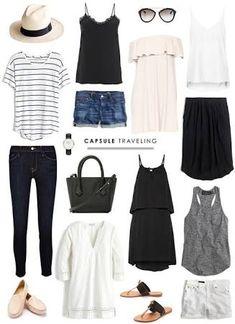 Image result for minimal travel wardrobe