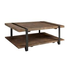 Alaterre Furniture Modesto Rustic Natural Storage Coffee Table AMSA1220 at The Home Depot - Mobile