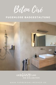 Home Spa, Bathroom Lighting, Sweet Home, Mirror, Inspiration, Furniture, Home Decor, Showers, Concrete Shower