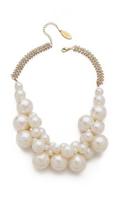 Love the different sized pearls...Adia Kibur Cluster Necklace