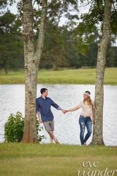 Engagement Photography, Horse, White Magnolia, Kentwood, Louisiana, Eye Wander Photo, Baton Rouge Photographer, Aaron Hogan Outdoors, Wedding Planning, Couple, Beautiful, Pond, Trees