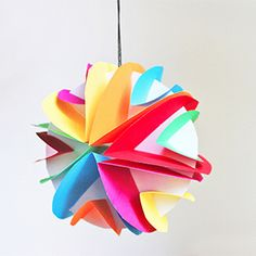 For all you galaxy geeks out there, make some paper planets to hang around your home!