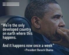 Barack Obama on gun violence
