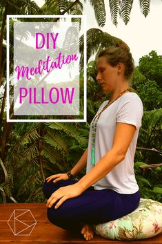DIY Meditation Pillow: How to make your own Meditation Cushion Check more at yoga. Meditation Room Decor, Meditation Cushion, Meditation Space, Meditation Quotes, Meditation Music, Meditation For Beginners, Meditation Techniques, Guided Meditation, Zazen Meditation