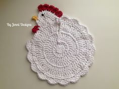 Chicken Dish Rag or Pot Holder Crochet Pattern SPRINGBOARD!!!!!