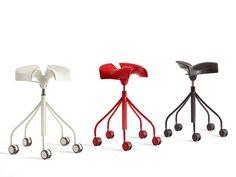 Tabouret de bureau à roulettes avec chevalet BINARIA - BD Barcelona Design