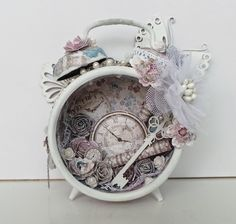 Ingrid's place: altered alarm clock *Maja Design* -with tutorial-