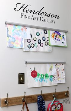 Such a clever way to display kids' artwork! Via Jen Woodhouse