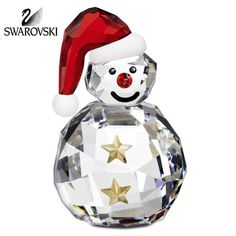 Swarovski Crystal Christmas Figurine ROCKING SNOWMAN #5103227 New